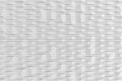 Abstract 3D rendering of white matte plastic waves Stock Photo