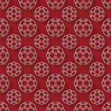 Abstract 3d rendering white sphere pattern on red background Stock Photos