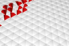 Abstract 3d rendering of white surface. Background with futuristic low poly shape Royalty Free Stock Photography