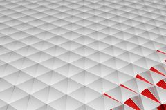 Abstract 3d rendering of white surface. Background with futuristic low poly shape Royalty Free Stock Images