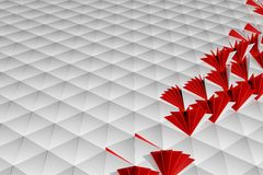 Abstract 3d rendering of white surface. Background with futuristic low poly shape Stock Images