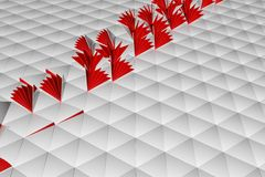 Abstract 3d rendering of white surface. Background with futuristic low poly shape Stock Photography