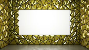 Abstract 3d rendering of yellow surface Background. With space Vector Illustration