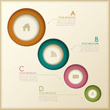 Abstract 3d ring infographics Stock Images