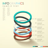 Abstract 3d ring infographics Stock Image