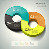 Abstract 3d ring infographics Royalty Free Stock Photos