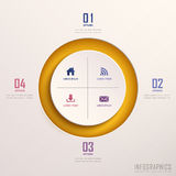 Abstract 3d ring infographics Royalty Free Stock Photo