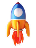 Abstract 3d rocket. Stock Images