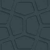 Abstract 3d seamless background. Dark perforated paper with outline extrude effect. 3d seamless wallpaper. Vector background EPS10 Royalty Free Illustration