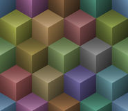 Abstract 3D Seamless Pattern. Background vector illustration