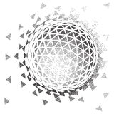 Abstract 3D shape. Halftone style. 3D Vector illustration. Abstract shape. Halftone style Stock Photo
