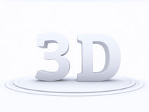 Abstract 3D shape on white background Royalty Free Stock Image