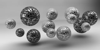 Abstract 3d shapes on background. 3d image. 3d rendering. Balls on a background. Abstract. 3D rendering stock illustration