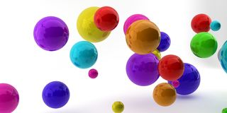 Abstract 3d shapes on background. 3d image. 3d rendering. Royalty Free Stock Images