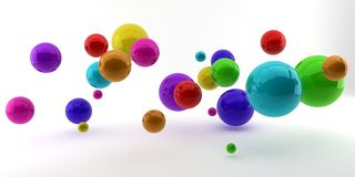 Abstract 3d shapes on background. 3d image. 3d rendering. Royalty Free Stock Photography