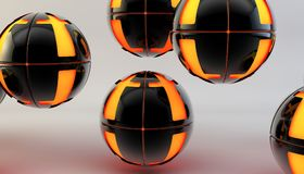 Abstract 3d shapes on background. 3d image. 3d rendering. Royalty Free Stock Photos