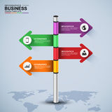 Abstract 3d signpost infographic design template Royalty Free Stock Photography