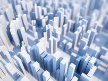 Abstract 3D skyscrapers. Abstract simple paper city background with skyscrapers royalty free illustration