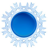 Abstract 3d snowflake label Royalty Free Stock Photography