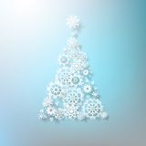 Abstract 3D Snowflakes Christmas Tree. EPS 10. This is editable vector illustration Stock Photos