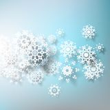 Abstract 3D Snowflakes Design template. EPS 10 Royalty Free Stock Photos