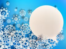 Abstract 3D Snowflakes. + EPS10. Abstract 3D Snowflakes Design Christmas background. + EPS10 vector file Stock Photos