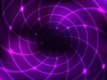 Abstract 3D space background for design. Black hole. Glowing lines. Vector illustration royalty free illustration