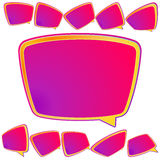 Abstract 3D speech bubble background. plus EPS10 Royalty Free Stock Photos
