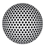 Abstract 3D Sphere with Black Circle Dots. Vector Illustration. Abstract 3D Sphere with Black Circle Dots. Stock vector Illustration Stock Image