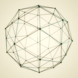 Abstract 3D Sphere. 3D sphere, Cinema 4D render by me, Atom array Royalty Free Stock Photos