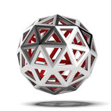 Abstract 3d sphere. Isolated on a white background Royalty Free Stock Photo