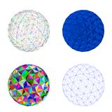 Abstract 3d sphere.Isolated on white background.Vector illustrat. Ion vector illustration