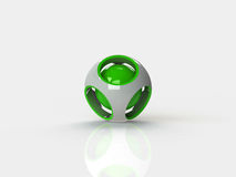 Abstract 3d sphere logos Royalty Free Stock Image