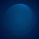 Abstract 3D Sphere with Stripes, lines. Vector illustration. Abstract 3D Sphere with Stripes, lines. Vector illustration Stock Photo