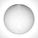 Abstract 3D Sphere with Stripes, lines. Vector illustration. Abstract 3D Sphere with Stripes, lines. Vector illustration Royalty Free Stock Photography