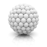 Abstract 3d Sphere On White Background. 3d Render Illustration Stock Images
