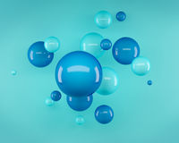 Abstract 3d spheres and light Royalty Free Stock Photography