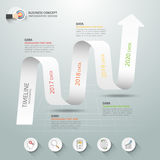 Abstract 3d spiral infographic template, Business concept Royalty Free Stock Photo