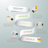 Abstract 3d spiral infographic template, Business concept 4 options Stock Photography