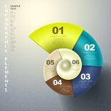 Abstract 3d spiral infographics Stock Image