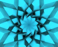 Abstract 3D spiral star. Abstract design element. Spiral star. 3D rendering Stock Illustration