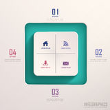 Abstract 3d square infographics Stock Photos