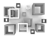 Abstract 3D Squares Royalty Free Stock Images