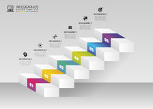 Abstract 3d stairs. Infographic or timeline template. Vector. Illustration Stock Illustration