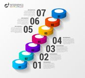 Abstract 3d stairs infographics or timeline template. Vector. Illustration Royalty Free Stock Photography