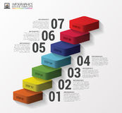 Abstract 3d stairs infographics or timeline template. Vector Stock Photo
