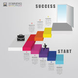 Abstract 3d stairs infographics or timeline template. Vector. Illustration Royalty Free Stock Image