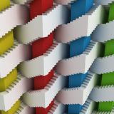 Abstract 3d stairs maze. Abstract stairs maze 3d illustration Stock Image