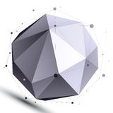 Abstract 3D structure orbital vector network object, complicated Royalty Free Stock Photos