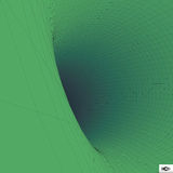 Abstract 3d Surface Looks Like Funnel. Mosaic Royalty Free Stock Photography